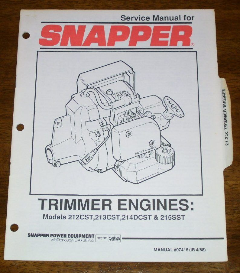 Snapper 215SST Service Manual Download. driver analog Buzz ICEX achieve Twitter team