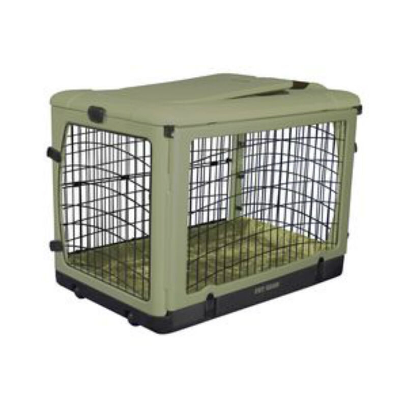 Pet gear dog pet crate folding kennel 36 the other door for Metal shipping crate