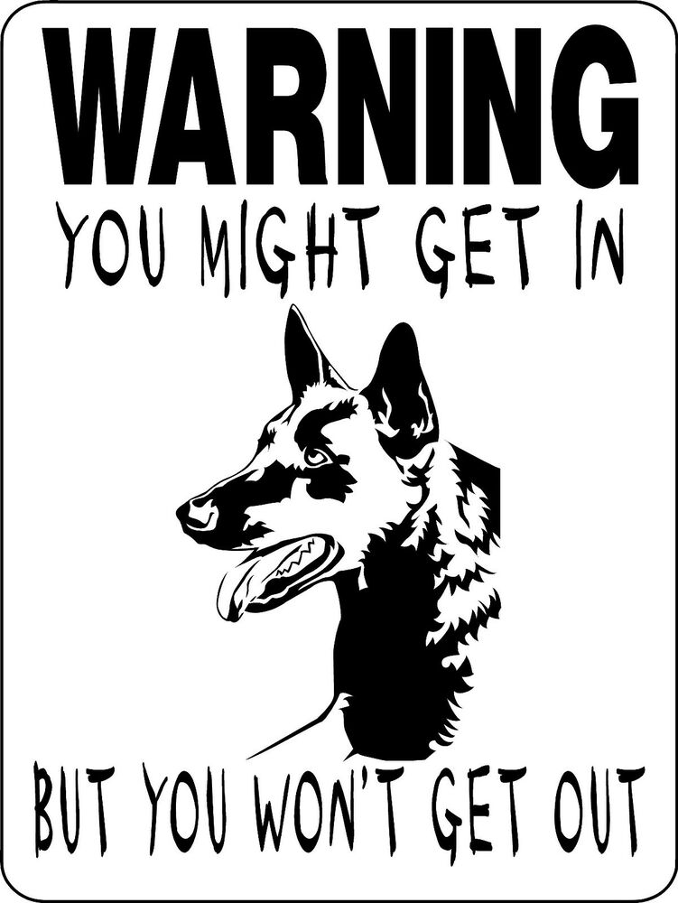 Belgian Malinois Dog Sign Guard Warning Aluminum Sign