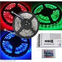 5M RGB SMD 5050 30Leds/M Waterproof Led Strip Lights + White Music Controller
