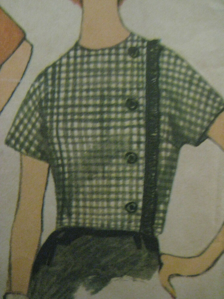 Vintage Simplicity 4029 Side Buttoned Blouse Frog Closure