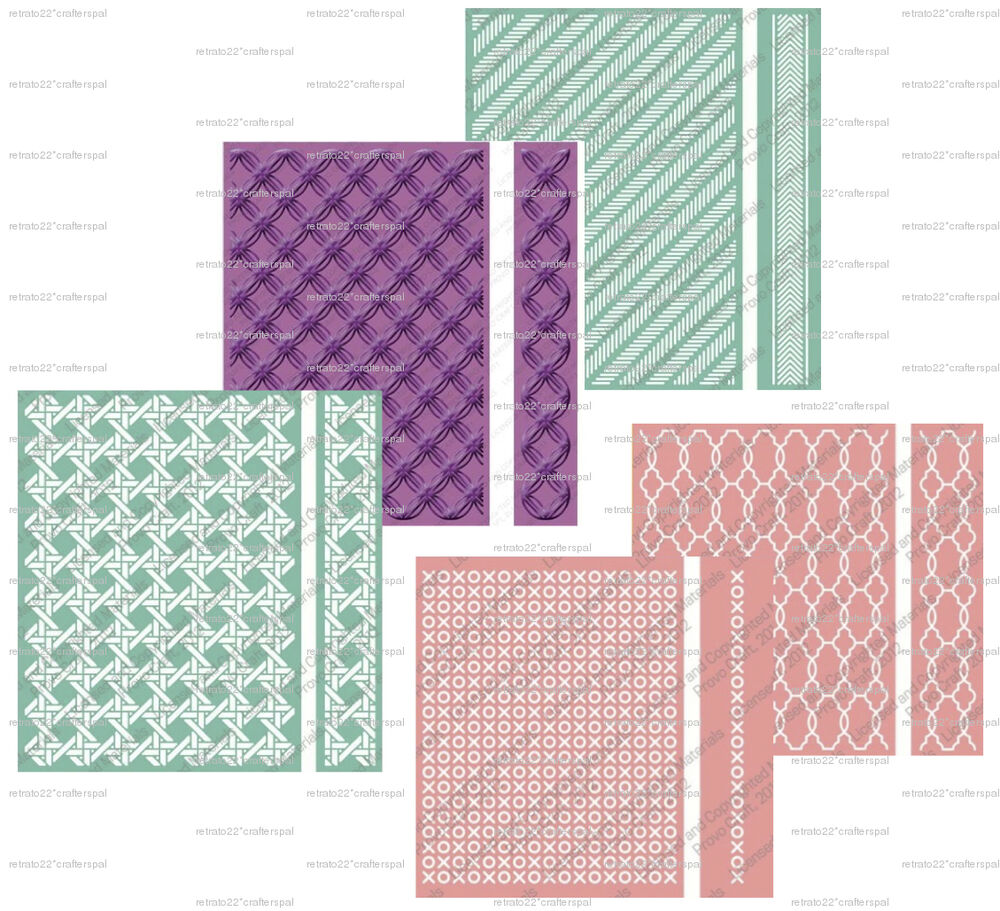 CUTTLEBUG A2 And 5X7 EMBOSSING FOLDERS And BOARDER BRAND
