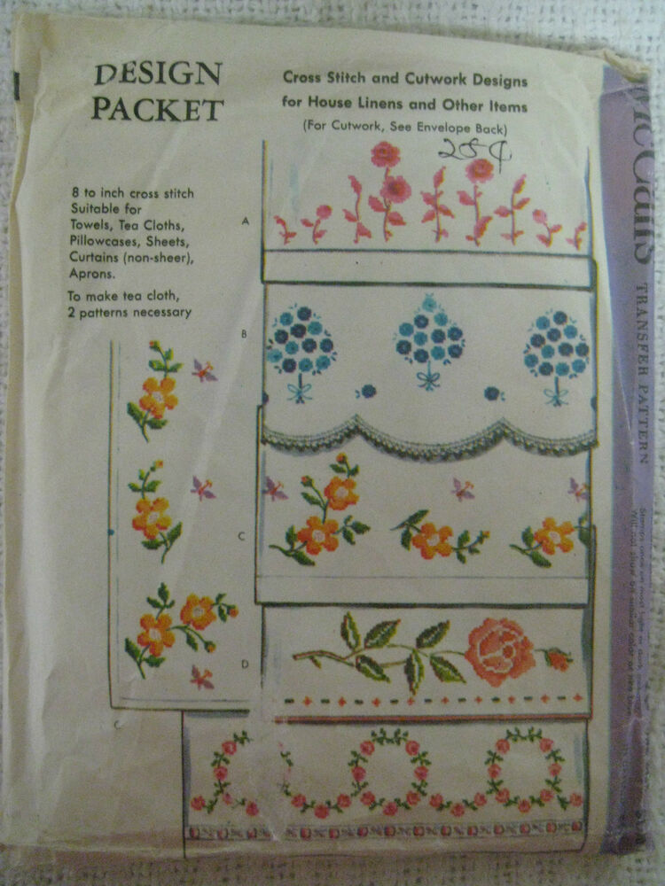 Vintage mccall s cross stitch cutwork designs