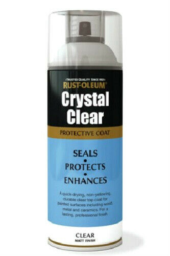 rustoleum crystal clear matt finish fast dry spray paint lacquer. Black Bedroom Furniture Sets. Home Design Ideas