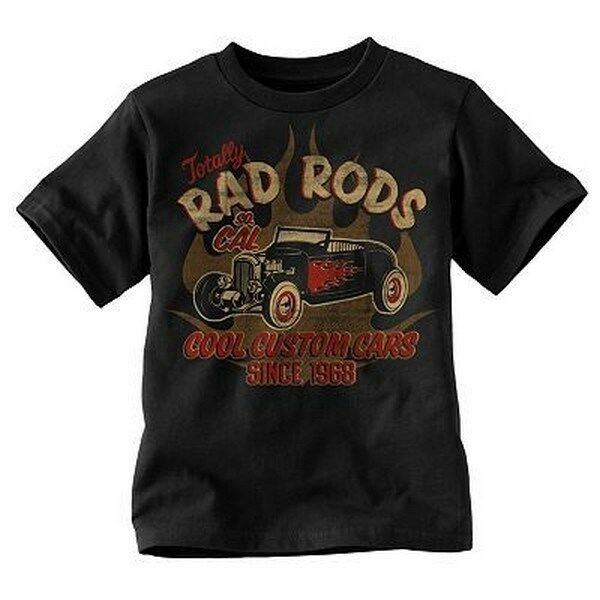 rad rods custom cars t shirt boys or girls classic rat
