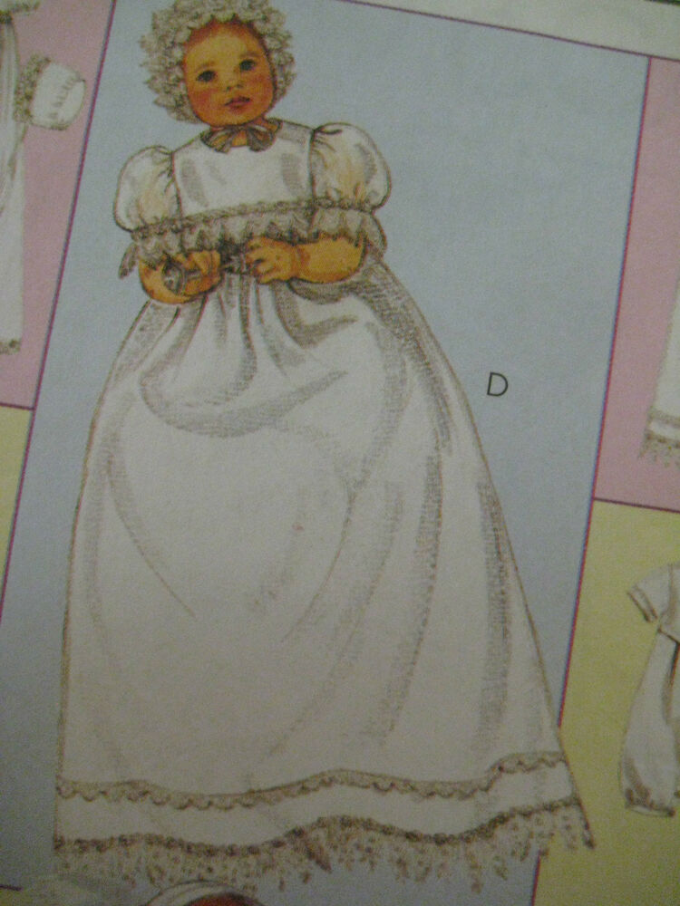 Vintage Mccalls 3063 Baby Christening Gown Sewing Pattern