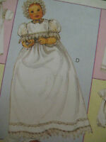 Vintage McCalls 3063 Baby CHRISTENING GOWN Sewing Pattern Baptismal Infant