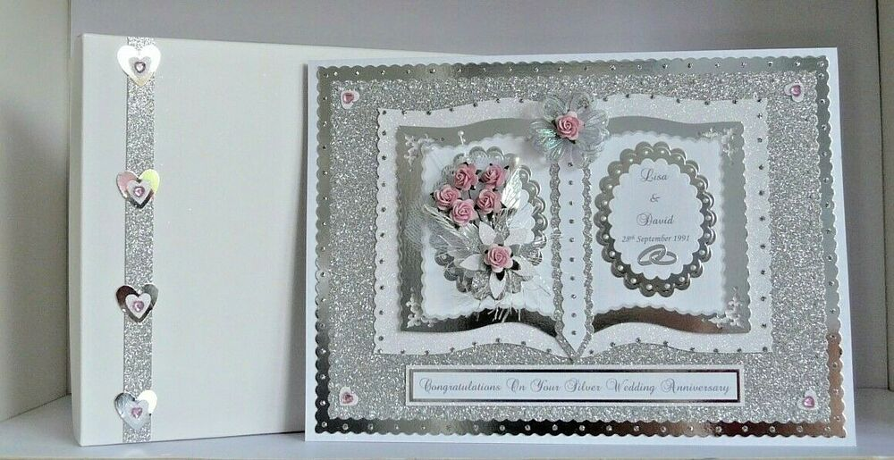 25th Wedding Anniversary Gift From Husband To Wife : ... 25th Wedding Anniversary Card Boxed Wife/Husband/Mum & Dad eBay