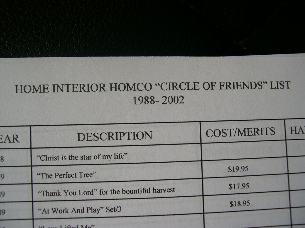 Home Interior Circle of Friends eBay