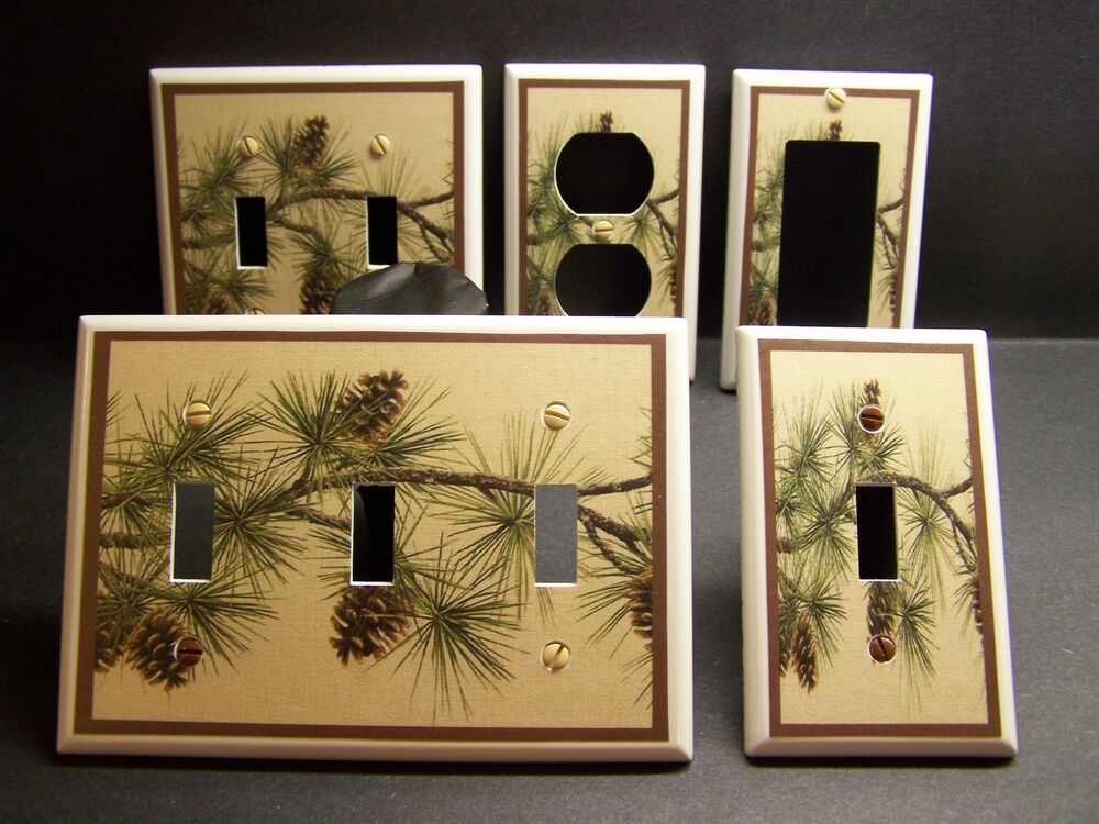 Pine Cones Pine Tree Branch So Rustic County Light Switch