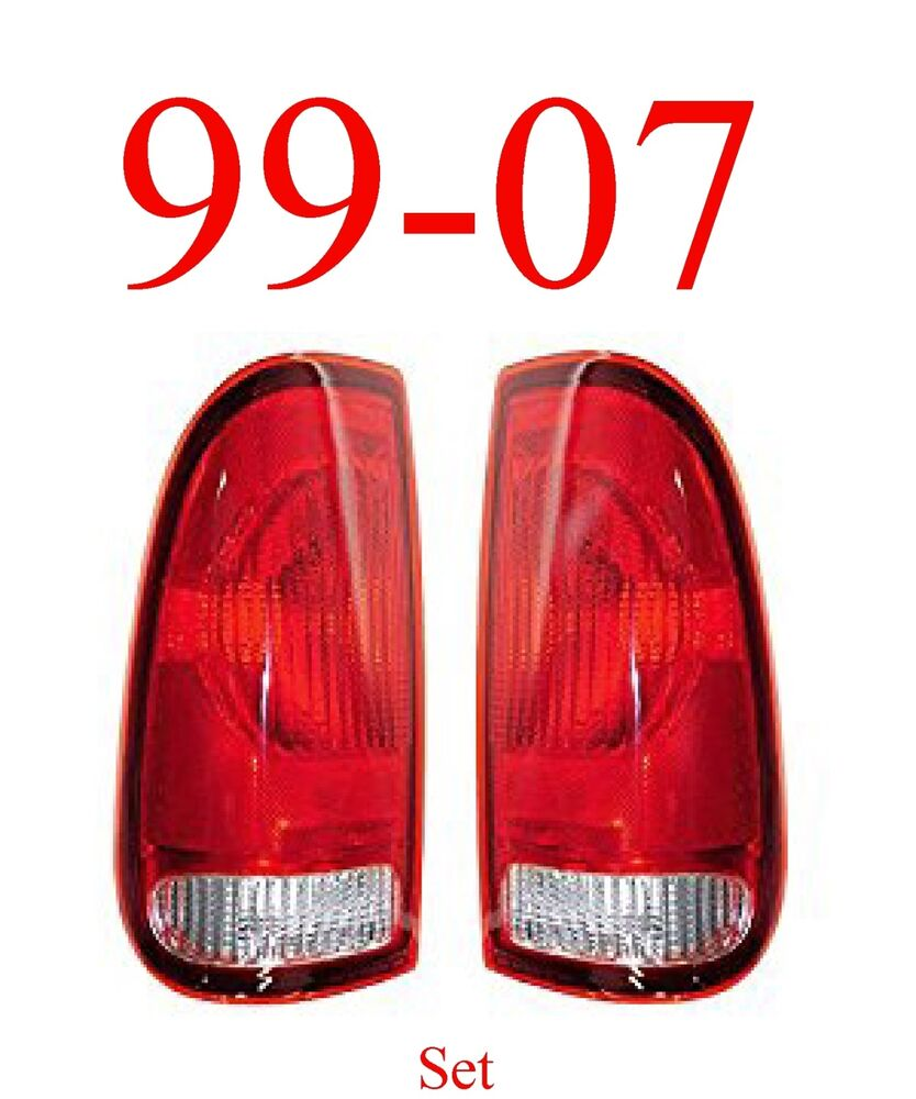 99 07 super duty 97 03 f150 tail light set assembly. Black Bedroom Furniture Sets. Home Design Ideas