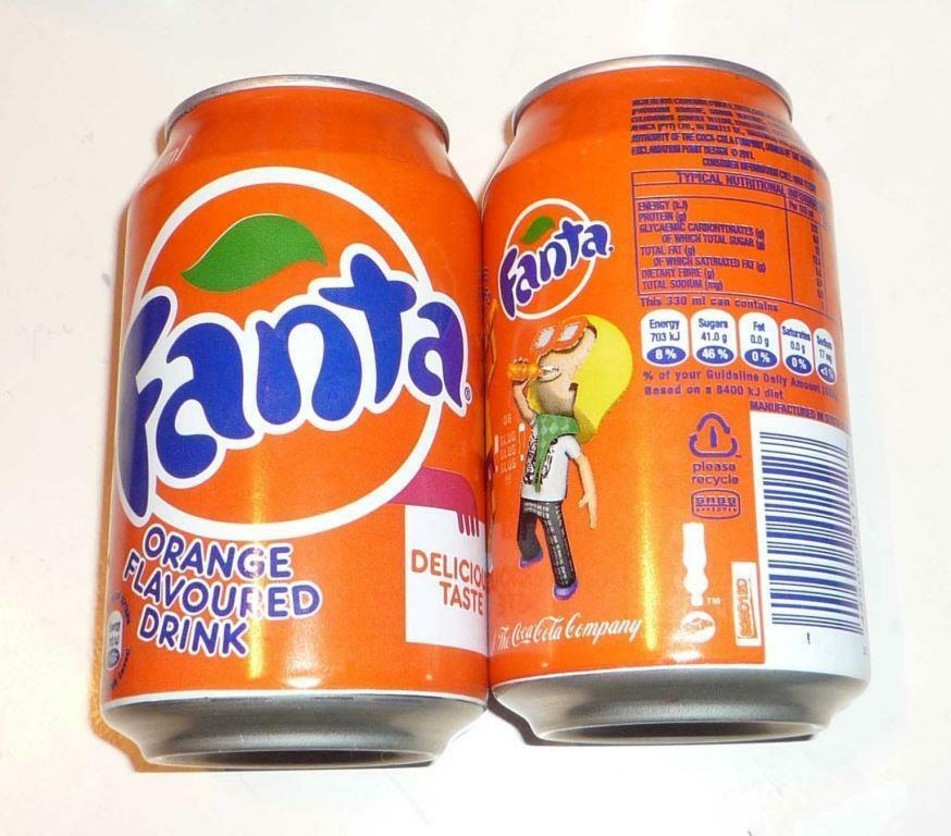 fanta can south africa 330m orange flavour coca cola 2012 orange ebay. Black Bedroom Furniture Sets. Home Design Ideas