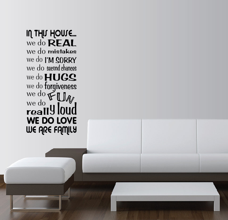 IN THIS HOUSE WE DO Vinyl Wall Quotes Sayings Word Art ...