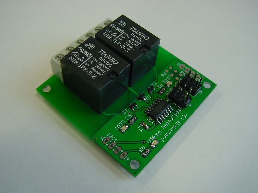 Spi breakout board with relays for avr arduino pic