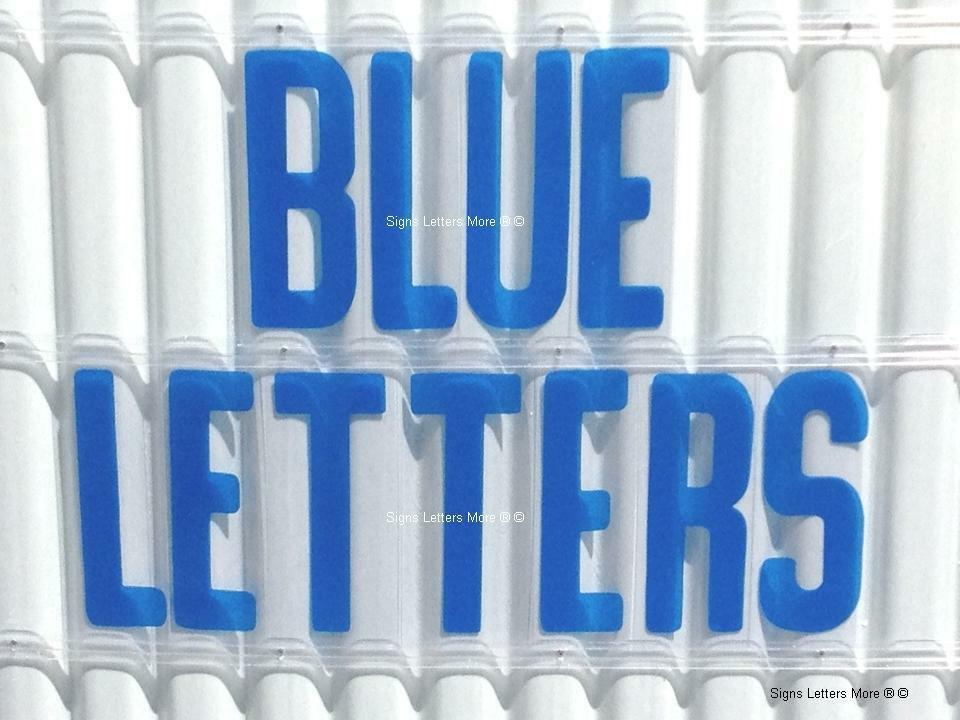 8 inch flexible plastic outdoor marquee sign letters blue color 300 count ebay