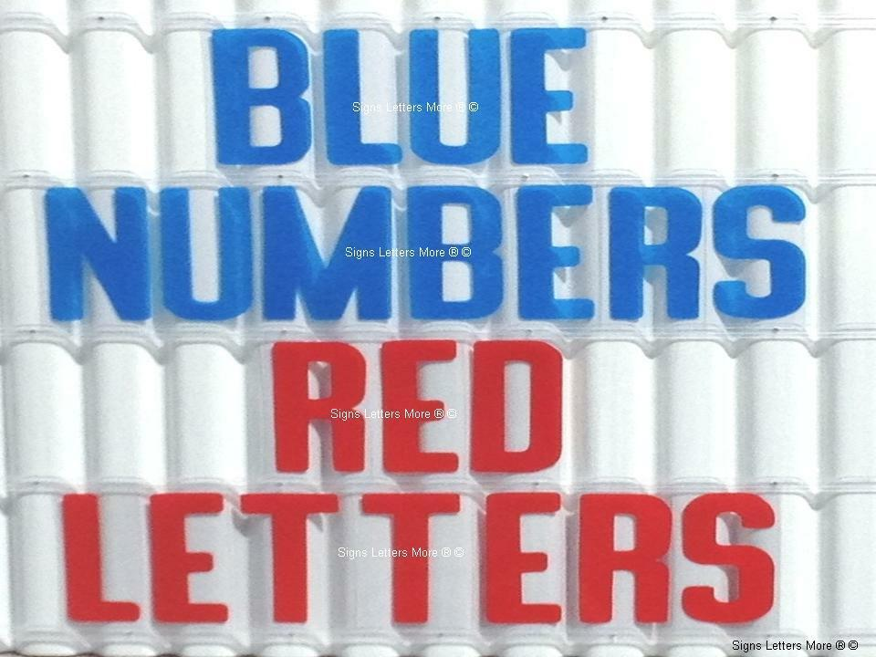 8 inch flexible plastic outdoor marquee sign blue numbers for Exterior letters and numbers