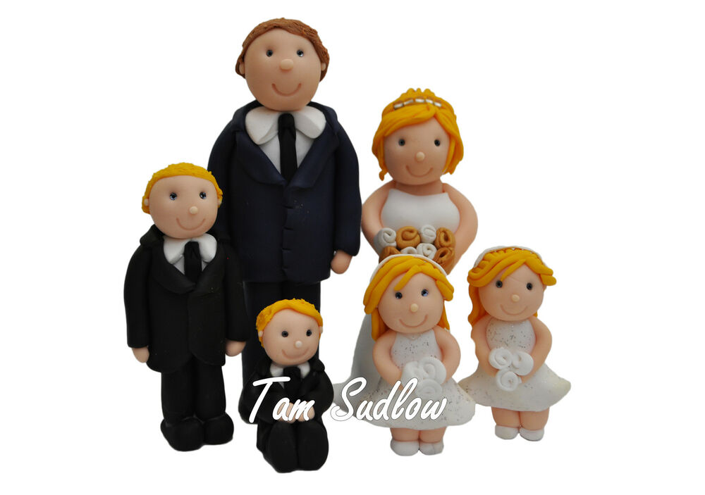wedding cake toppers with children personalised wedding cake topper and groom and 26629
