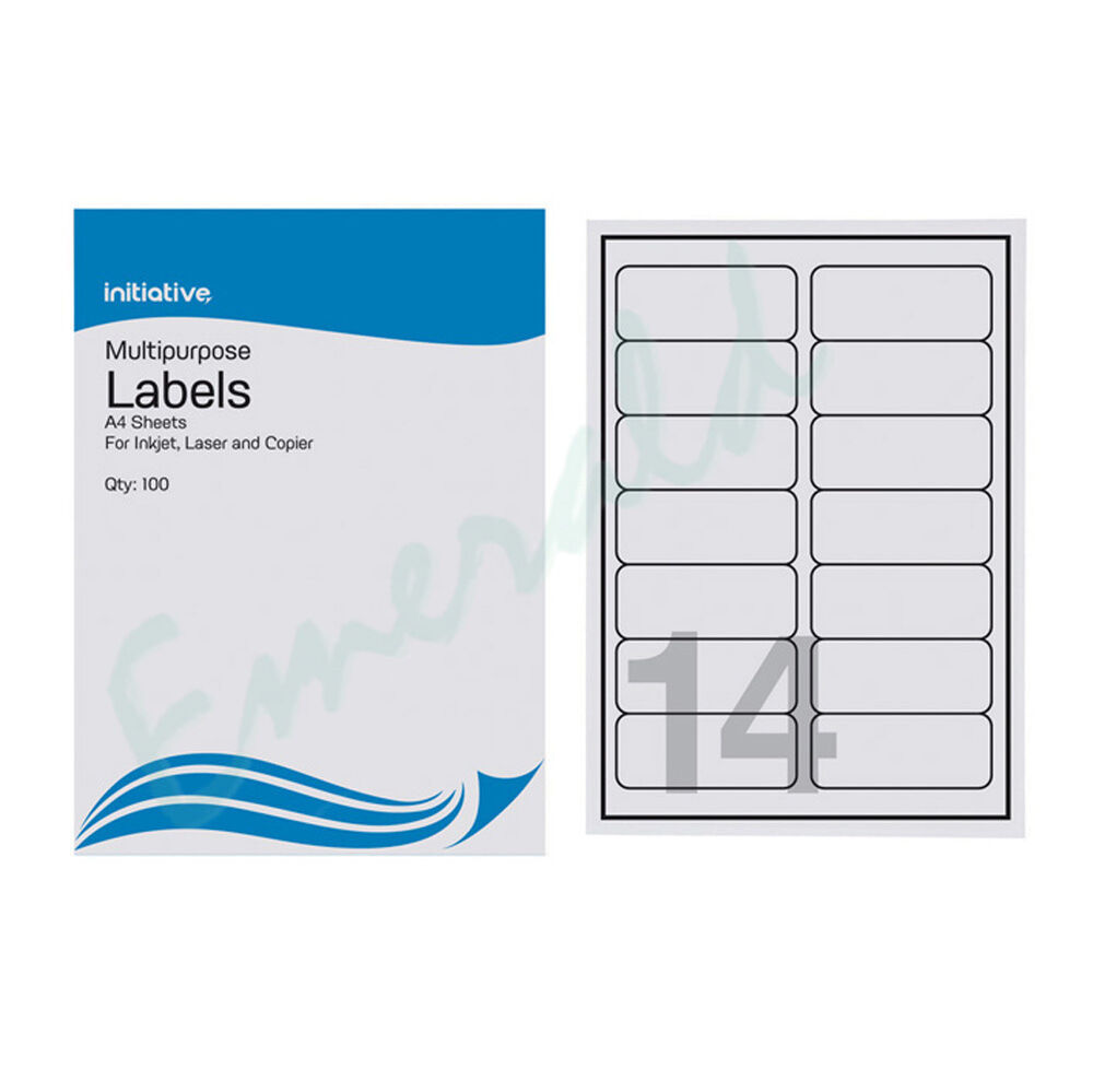This is an image of Fan Avery A4 Label Sheets