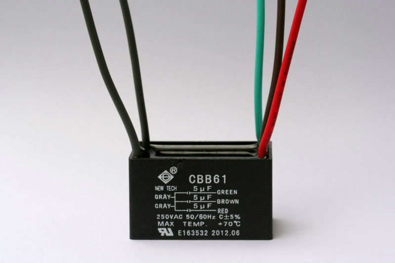 ceiling fan capacitor cbb61 5uf 5uf 5uf 5 wire