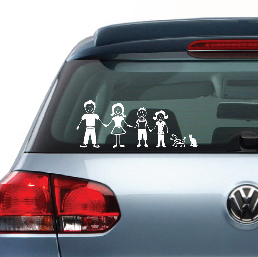 Family Figures Vinyl Decal Sticker Clings For Car Truck