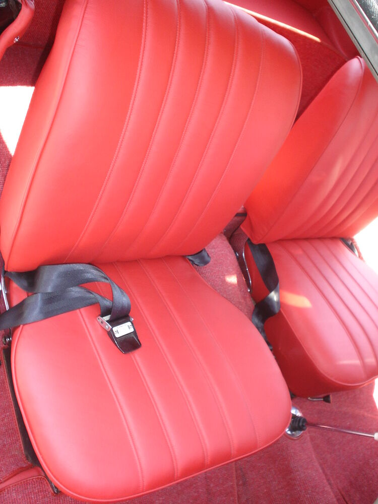 Mercedes sl w121 190sl leather seat covers kit 1957 1963 for Seat covers mercedes benz