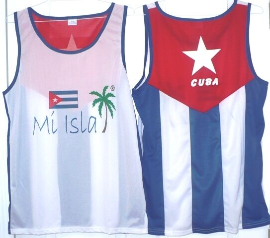 Cuba Tank Top Quot Mi Isla Quot In Front Flag On Back Ebay