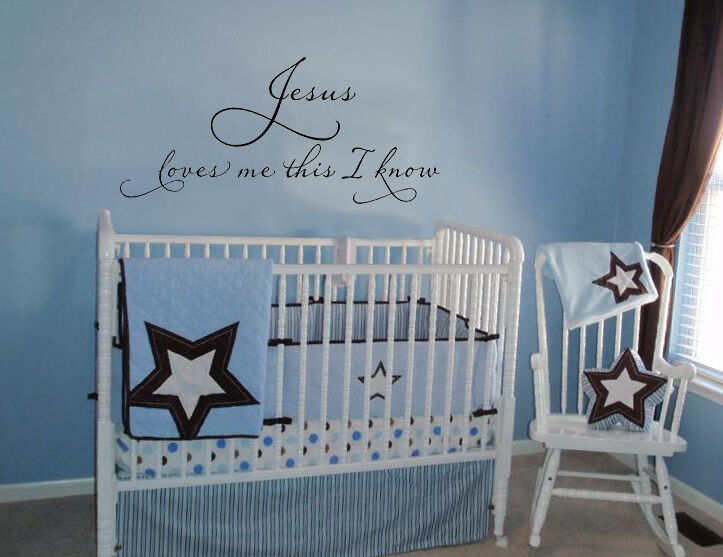Jesus Loves Me This I Know Vinyl Decal Wall Lettering