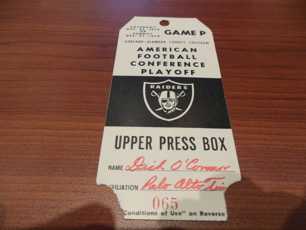 1970 Afc Conference Playoff Nfl Football Ticket Stub