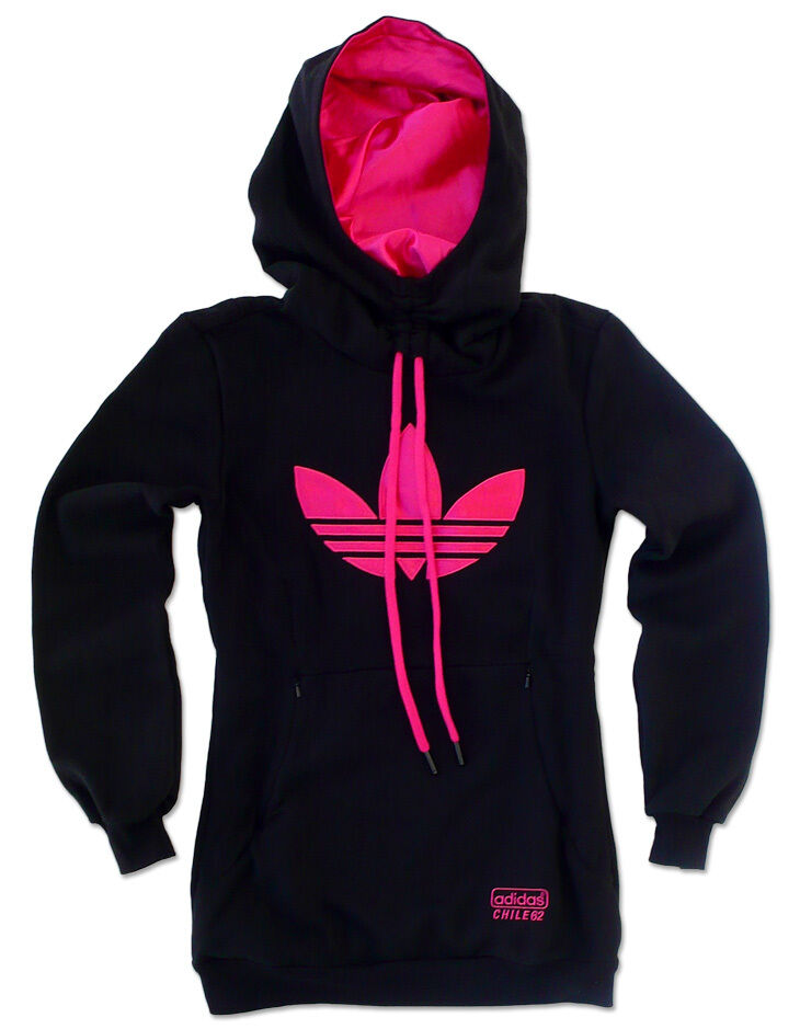 adidas originals women s chile 62 long hoodie hooded. Black Bedroom Furniture Sets. Home Design Ideas