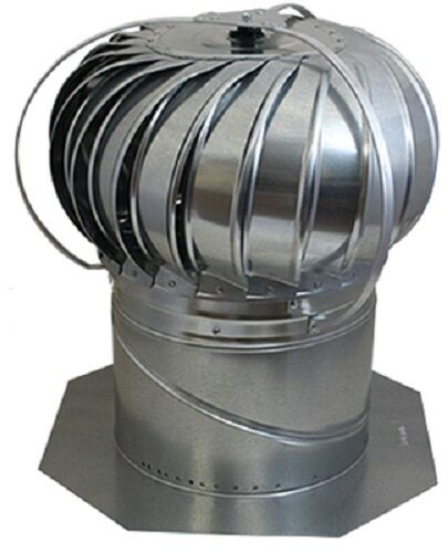 Turbine Roof Ventilators : Air vent wte quot external galvanized mill turbine
