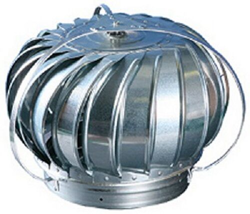 Rooftop Wind Turbines Ventilator : Air vent quot external mill finish galvanized wind