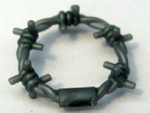 Gray Coil Wire : Lego agents minifig utensil barbed wire coil pearl