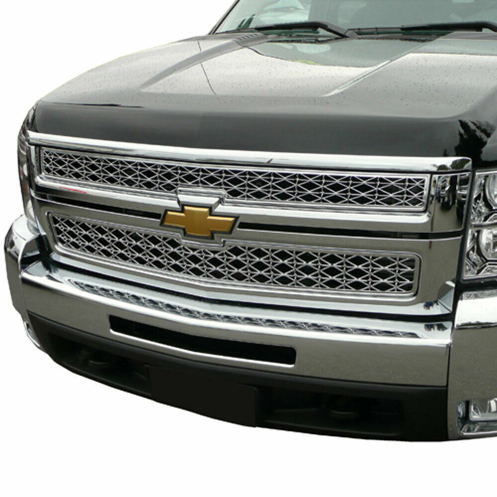 Chevy Silverado HD Chrome Grille Overlay 2007-2008-2009 ...