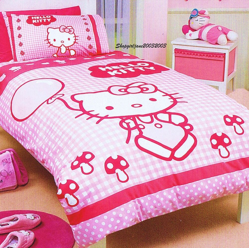 Hello Kitty ☥☥☥ Balloons ☥☥☥ Single US Twin Bed Quilt