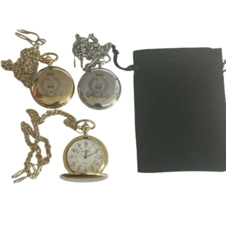 img-AGC(SPS) POCKET WATCH - AGC (SPS) CREST ENGRAVED, COMES WITH VELVET POUCH