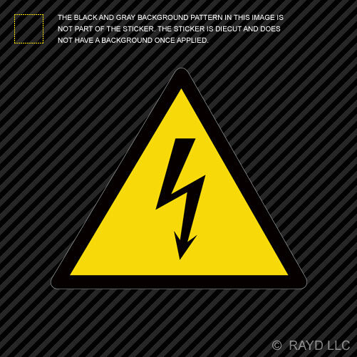 Danger High Voltage Sticker Die Cut Decal Self Adhesive