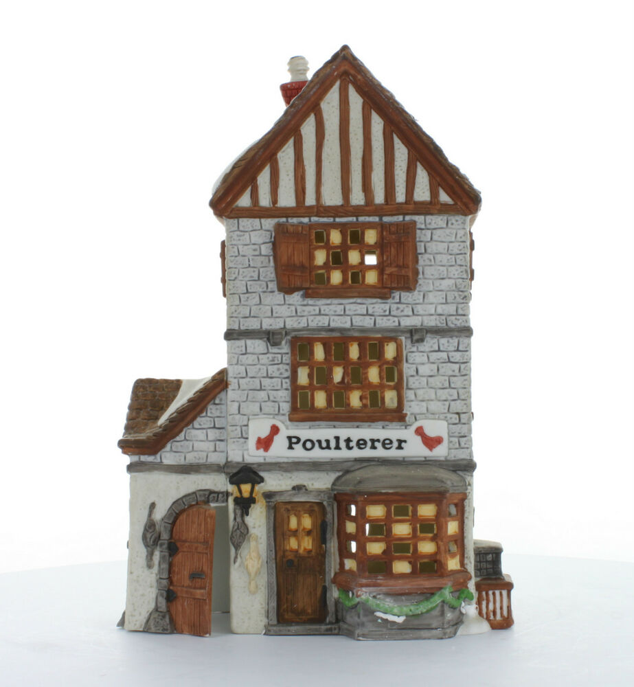 department 56 dickens 39 village collectible poulterer 1988 59269 ebay. Black Bedroom Furniture Sets. Home Design Ideas