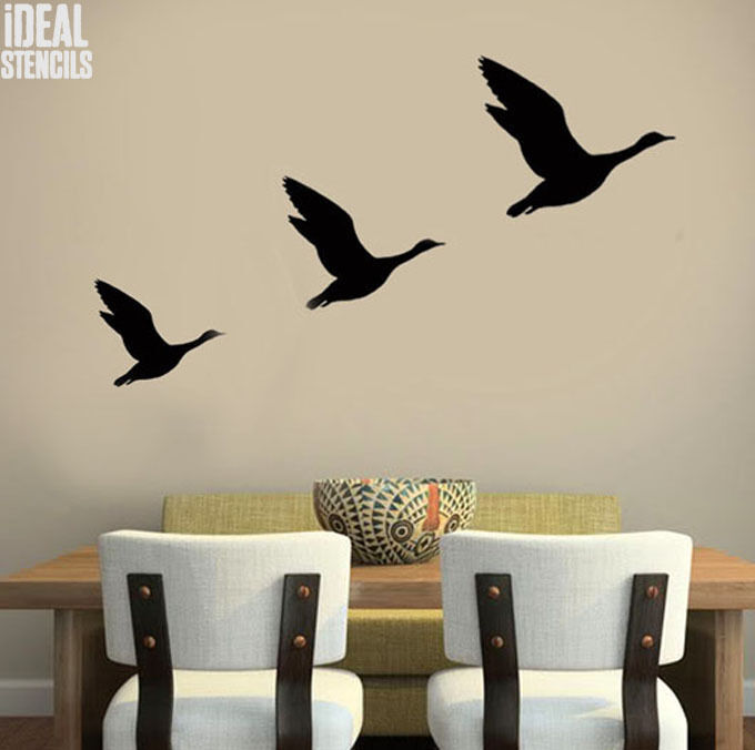 Wall Art Decor Stencils : Flying ducks stencil reusable home d?cor wall art craft