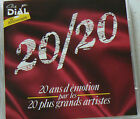 20/20 ANS D'EMOTION PAR LES 20 PLUS GRANDS ARTISTES (CD X2) DIAL