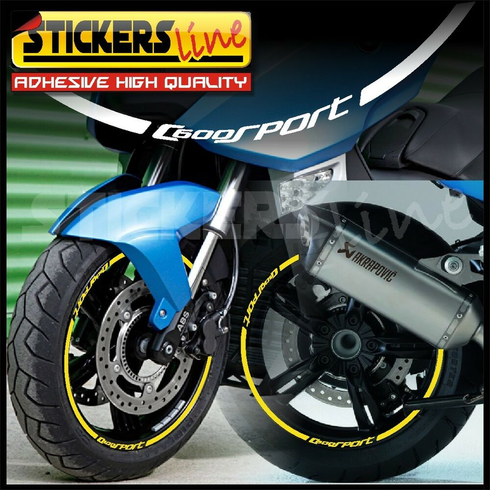 adesivi ruote moto bmw c600 strisce cerchi per bmw c600 sport wheel stickers ebay. Black Bedroom Furniture Sets. Home Design Ideas