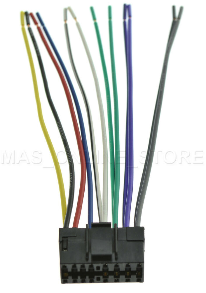 wire harness for jvc kd ar390 kdar390 pay today ships. Black Bedroom Furniture Sets. Home Design Ideas