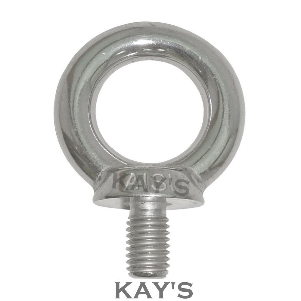 A marine grade stainless steel lifting eye bolts m
