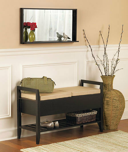 Decorative Bench Or Mirror Amp Seat Cushions In Walnut Or