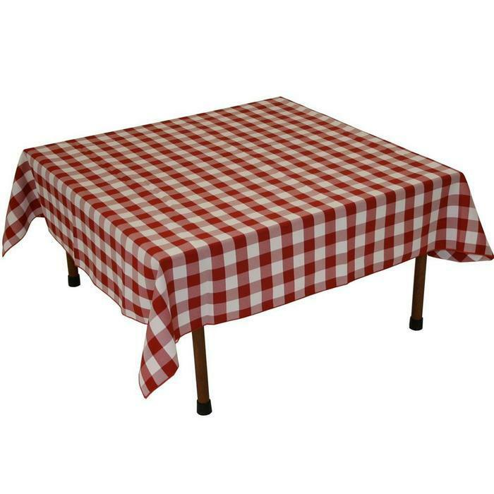 15 Checkered Polyester Tablecloths 54quot21554quot Square 100  : s l1000 from www.ebay.com size 700 x 700 jpeg 44kB