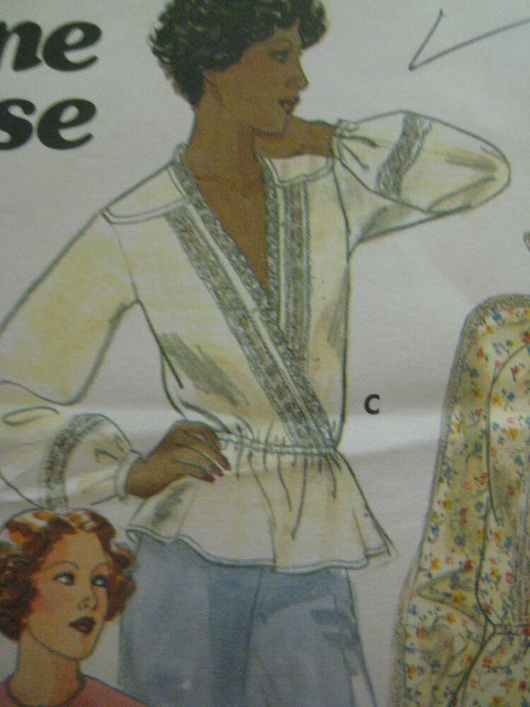 Brilliant Womens Plus Size Shirt Sewing Pattern Uncut Bust 40 42 44
