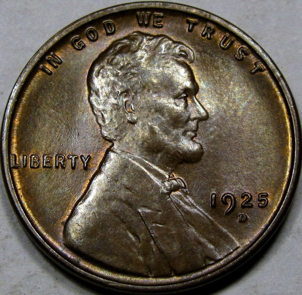 1925 d lincoln cent superb gem bu ms rb tough date amazing coin so nice ebay - Incredible uses for copper pennies ...