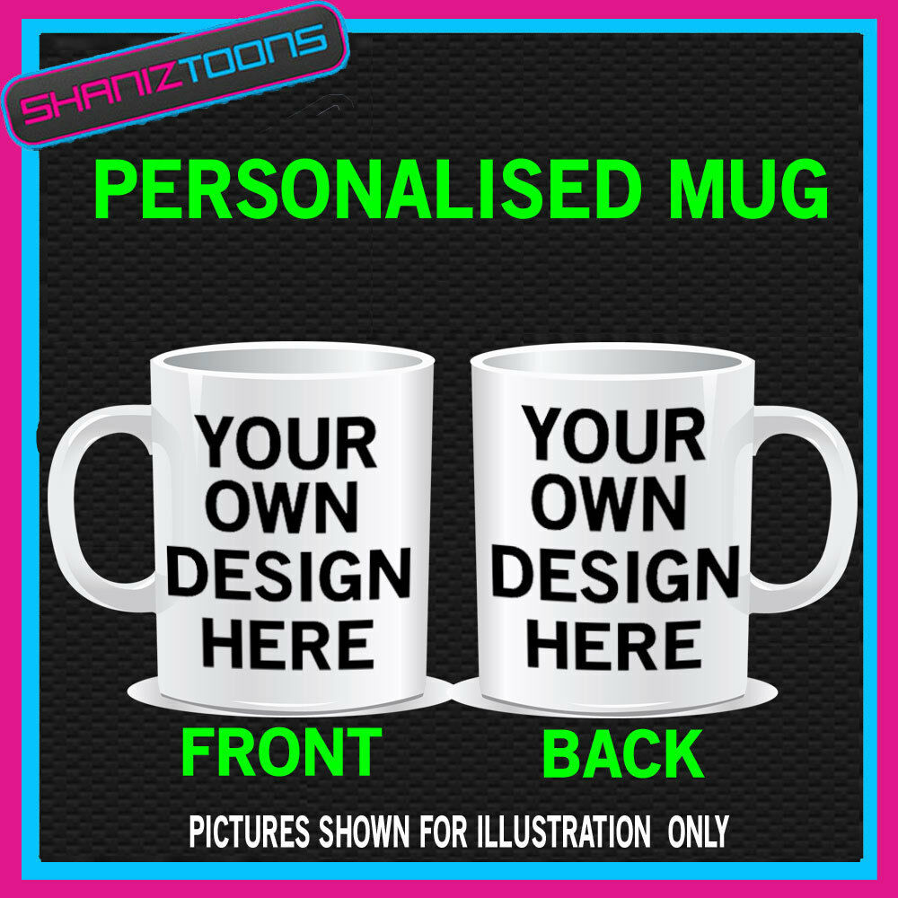 Design Your Own Coffee Mug Gift Idea Text Picture Logo Ebay