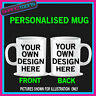 DESIGN YOUR OWN COFFEE MUG GIFT IDEA TEXT PICTURE LOGO