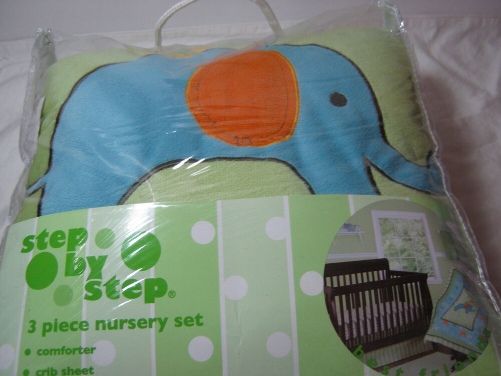 Step By Step 3 Piece Best Friends Crib Bedding Nursery Set