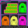 13th BIRTHDAY GIFT NEON  ELECTRIC KIDS CHILDS HOODIE HOODY